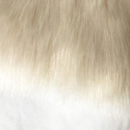 Couverture crème pour chien en fausse fourrure